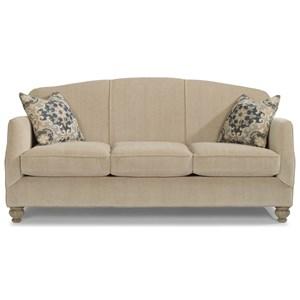 Transitional Sofa with Bun Feet