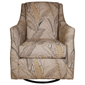 Transitional Swivel Chair with Plush Reversible Seat Cushion