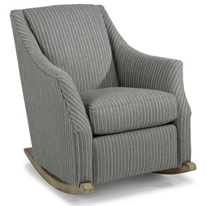 Transitional Rocker Chair with Plush Reversible Seat Cushion