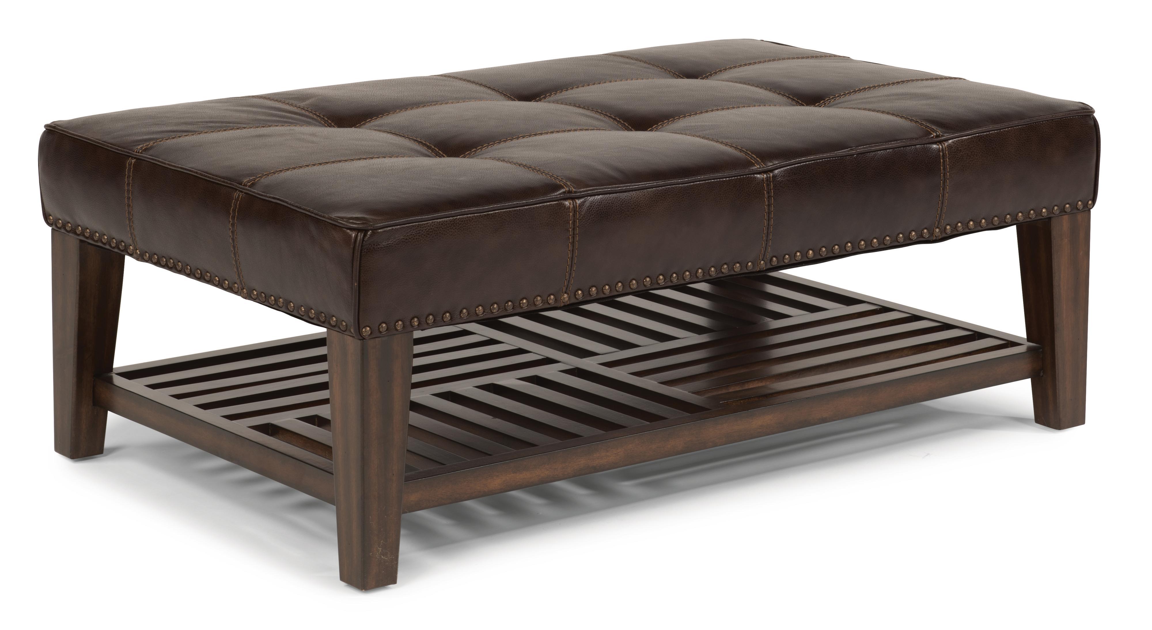 Latitudes - Port Royal Upholstered Cocktail Ottoman by Flexsteel at Walker's Furniture
