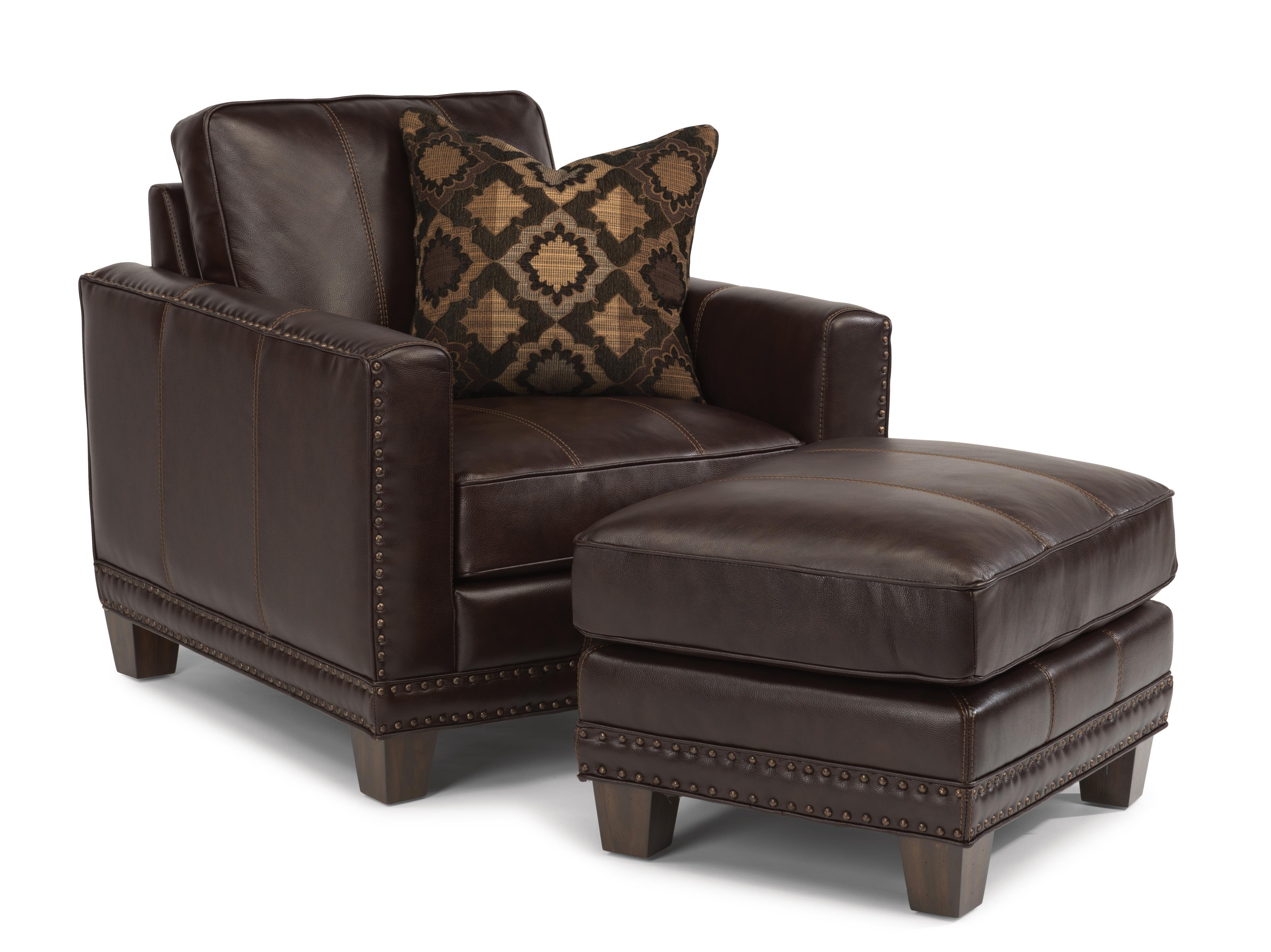 Latitudes - Port Royal Chair & Ottoman  by Flexsteel at Walker's Furniture