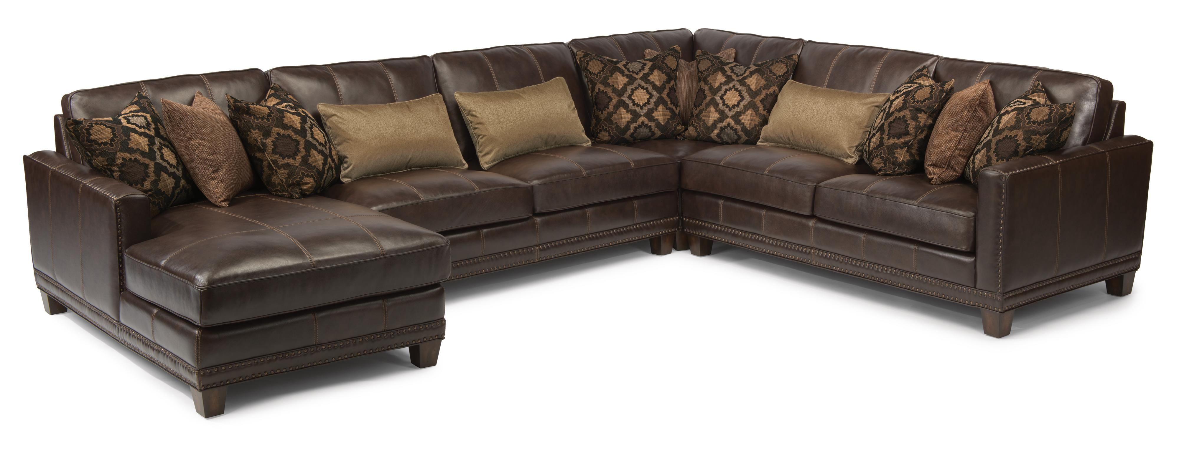 Latitudes - Port Royal 4 Pc Sectional Sofa by Flexsteel at Northeast Factory Direct