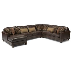 Transitional Four Piece Sectional Sofa with LAF Chaise