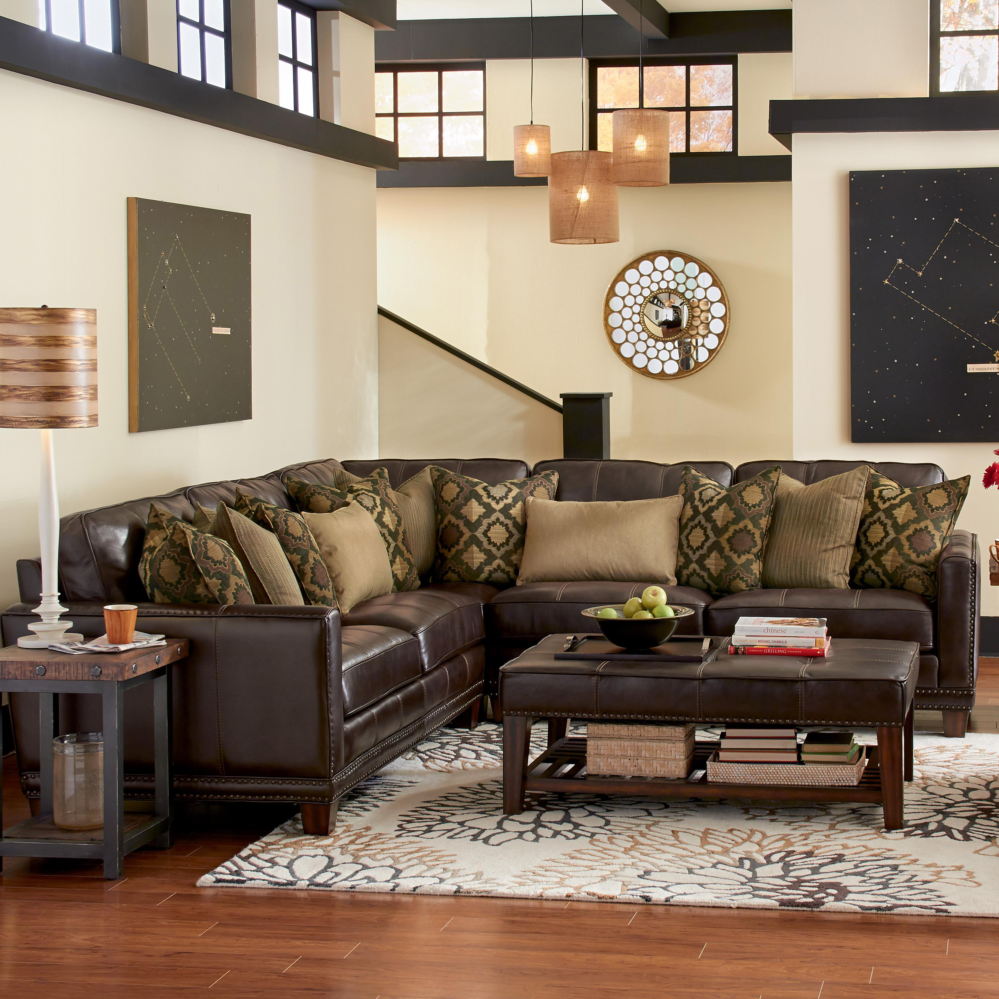 Latitudes - Port Royal 3 Pc Sectional Sofa by Flexsteel at Northeast Factory Direct