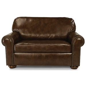 Traditional Twin Sleeper Sofa with Nailhead Trim