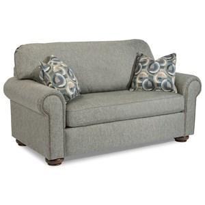 Traditional Twin Sleeper Sofa with Nailhead Trim