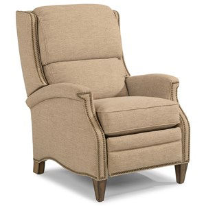 Traditional Power High-Leg Recliner with Nailhead Trim