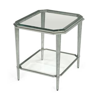 Contemporary Glass End Table