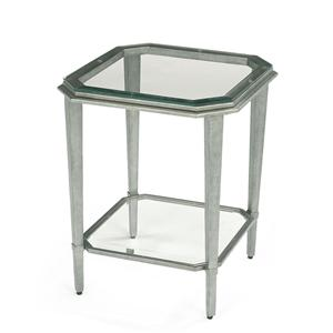 Contemporary Glass Chairside Table