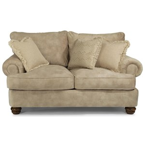 Traditional Loveseat with Bun Feet