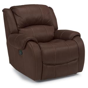 Glider Recliner with Pillow Top Arms