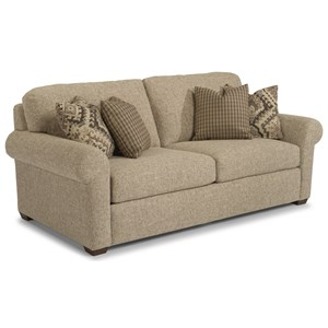 Transitional Two-Cushion Sofa with Rolled Arms