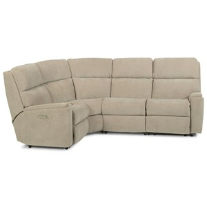 Casual 5 Piece Manual Reclining Sectional