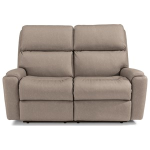 Casual Power Reclining Loveseat with Power Headrests