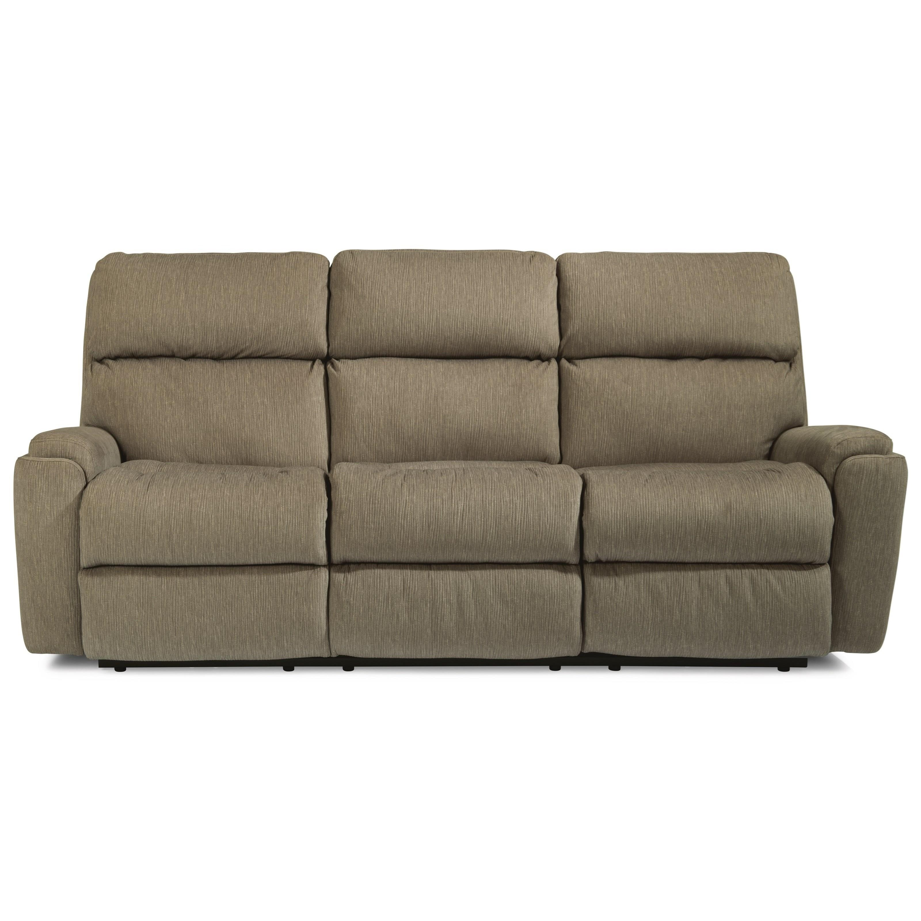Rio Power Reclining Sofa with Power Headrests by Flexsteel at Walker's Furniture