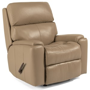 Casual Rocking Recliner with Pillow Arms