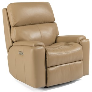 Casual Power Rocking Recliner with Power Headrest and USB Port
