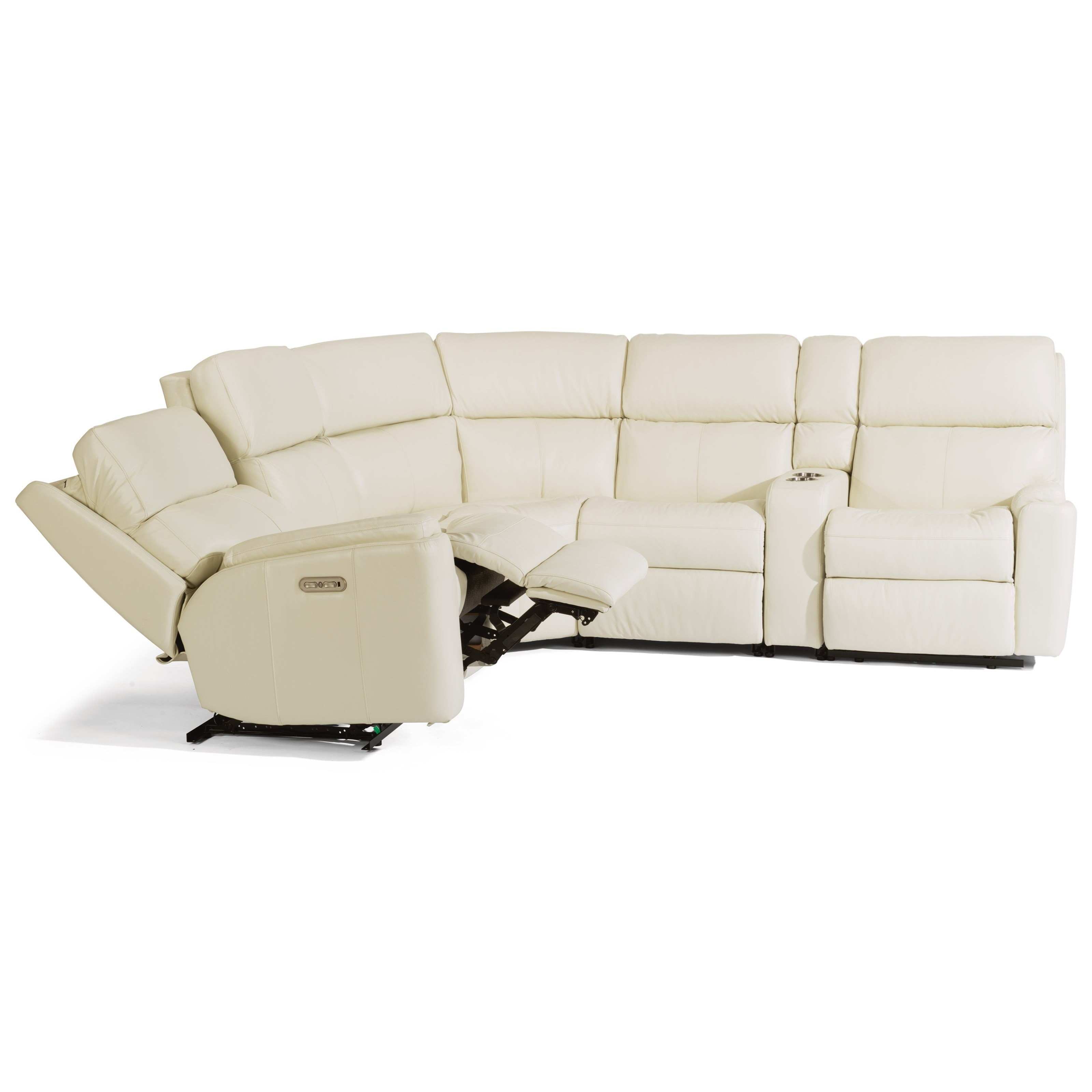Rio 6 Piece Manual Reclining Sectional by Flexsteel at Steger's Furniture