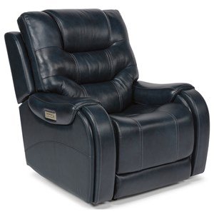 Casual Power Lay-Flat Recliner with Power Headrest and Lumbar