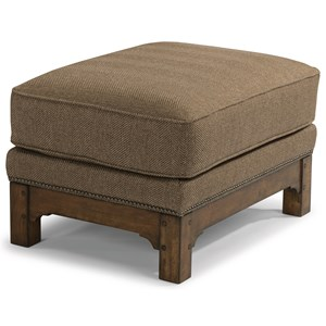 Mission Ottoman with Nailhead Trim