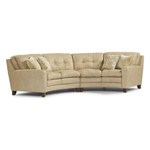 Flexsteel Latitudes - South Street Curved Sectional Sofa