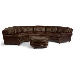Flexsteel Latitudes-Suffolk Round Sectional Sofa