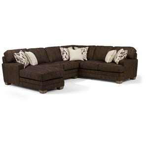 Flexsteel That's My Style Custom 3 Piece Sectional Sofa