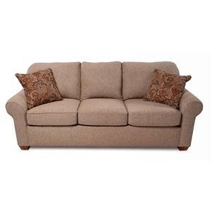 Stationary Upholstered Sofa w/ Performance Fabric