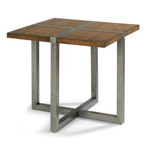 Flexsteel Trestle Lamp Table