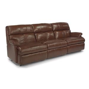 Three Piece Reclining Sectional Sofa with Center Recliner