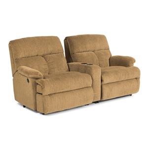Three Piece Power Reclining Sectional Sofa w/ Arm Console