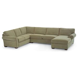 Flexsteel Vail Stationary Sectional Sofa