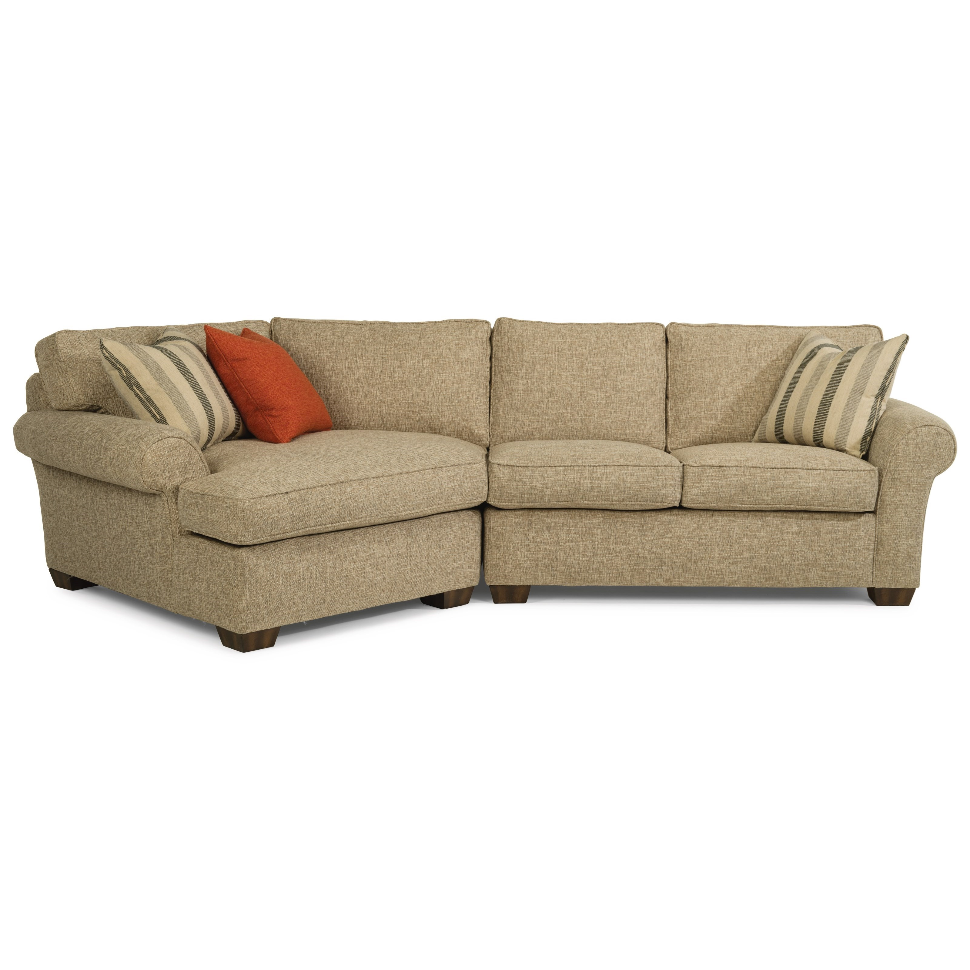 Vail 2-Piece Sectional with LAF Angled Chaise by Flexsteel at Jordan's Home Furnishings