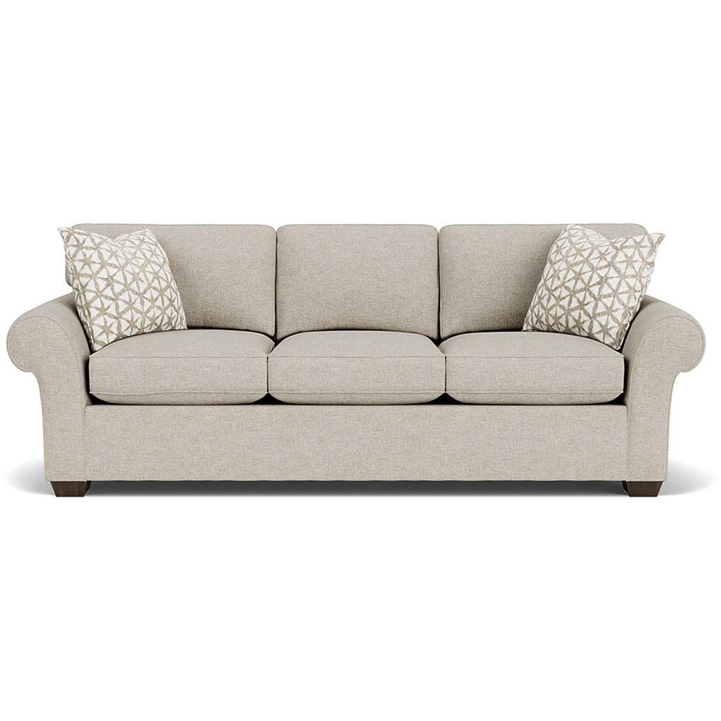 "Vail 91"" Three Cushion Sofa by Flexsteel at Fashion Furniture"