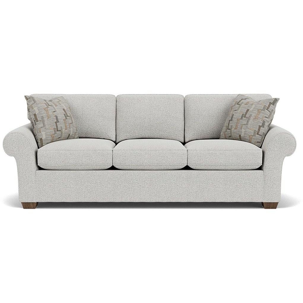 "Vail 91"" Three Cushion Sofa by Flexsteel at Coconis Furniture & Mattress 1st"