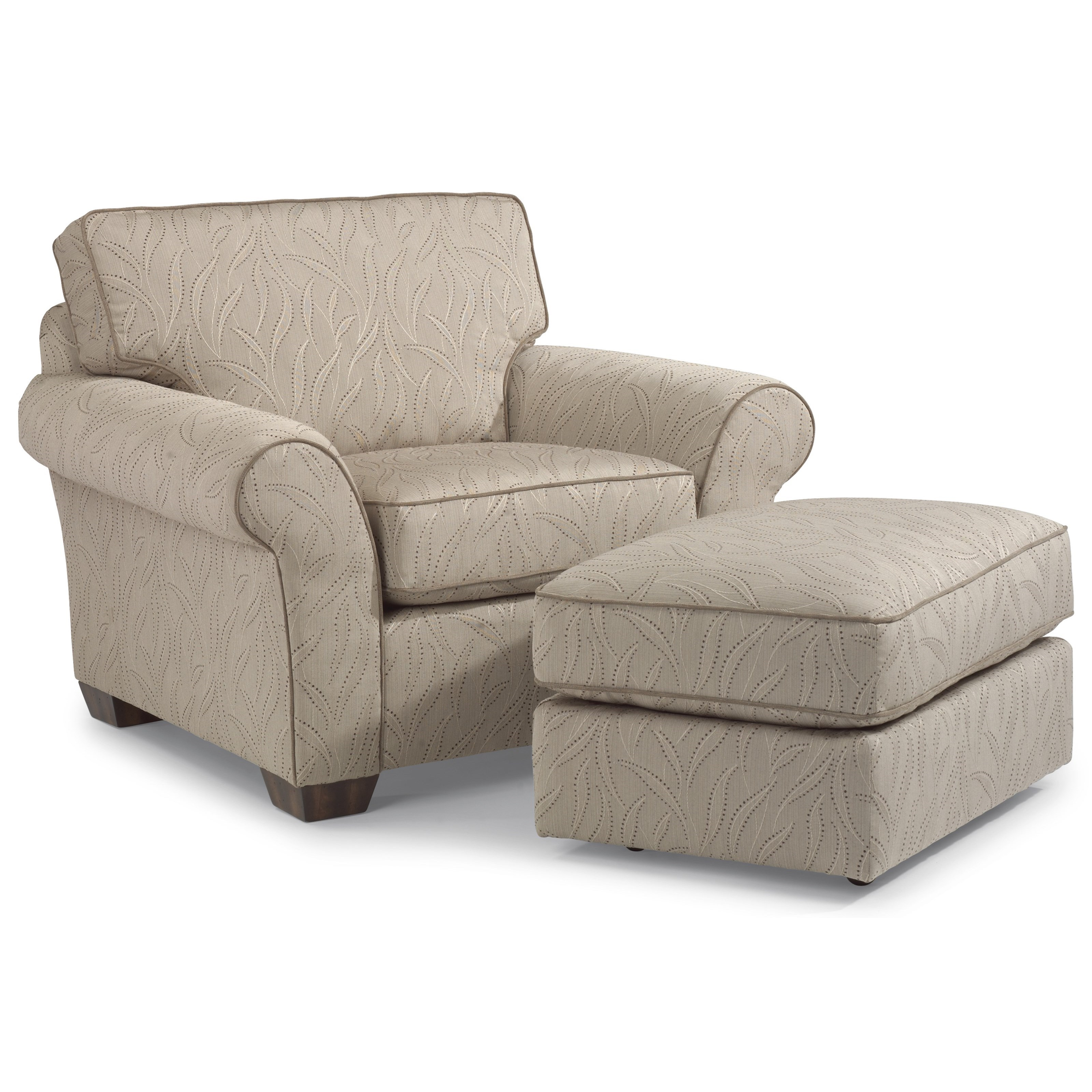 Vail Chair and Ottoman by Flexsteel at Mueller Furniture
