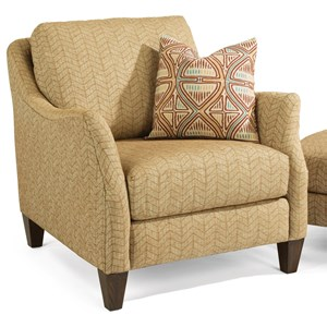 Transitional Upholstered Chair with Slope Arms