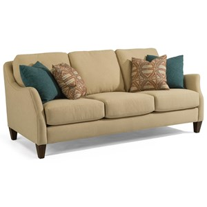 Transitional Sofa with Slope Arms