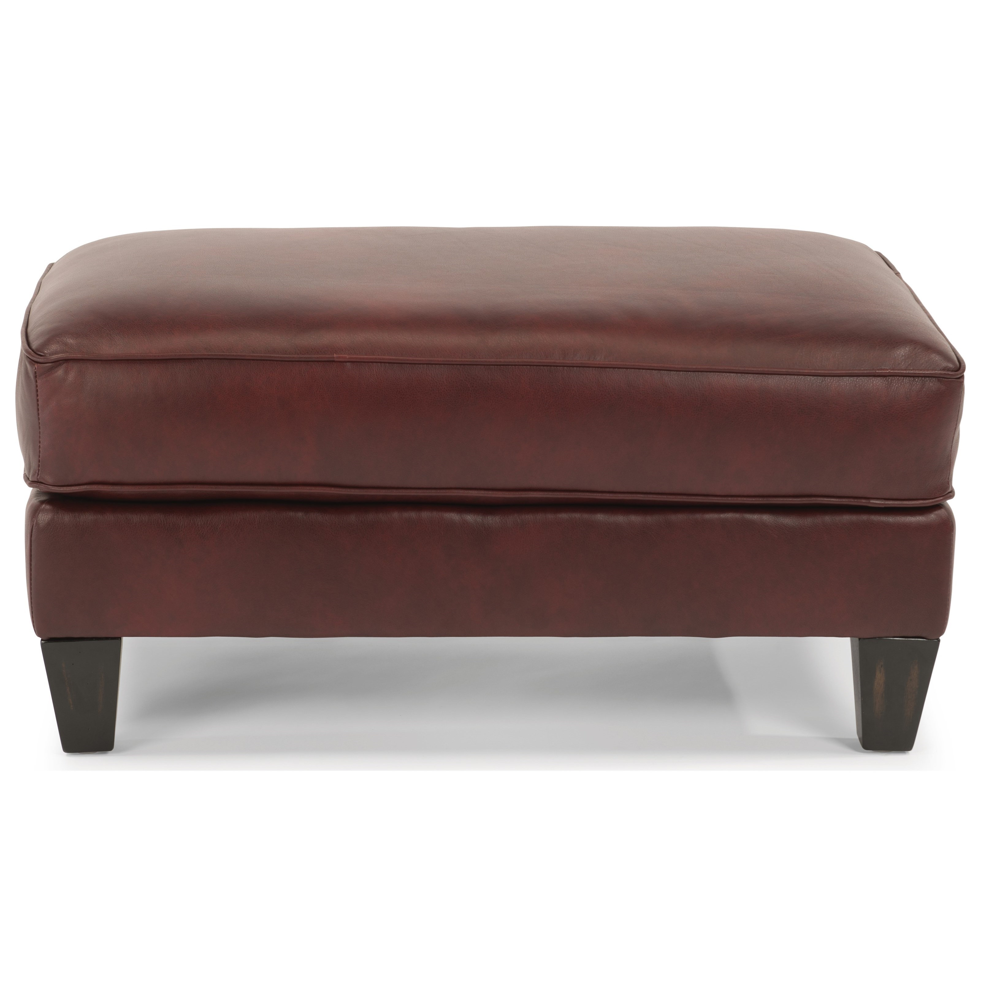 Caldwell Leather Cocktail Ottoman by Flexsteel at Crowley Furniture & Mattress