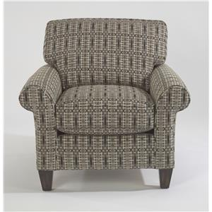 Casual Style Rolled Arm Chair