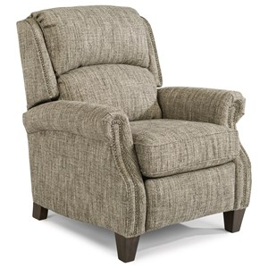 Traditional High-Leg Recliner with Nail Head Trim