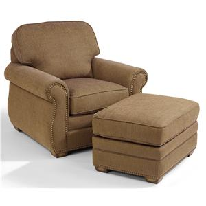 Flexsteel Whitney Chair and Ottoman