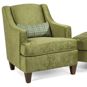 Contemporary Upholstered Chair with Sloped Track Arms