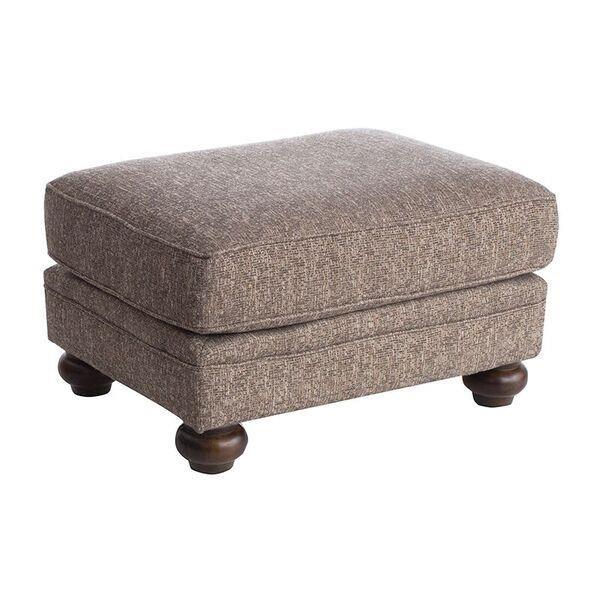 Upholstered Ottoman with Bun Feet