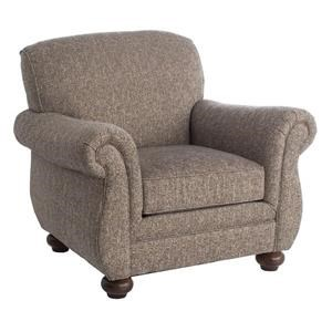 Upholstered Arm Chair with Bun Feet