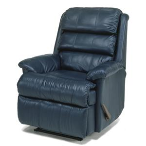 Recliner with Channel-Tufted Back Cushion