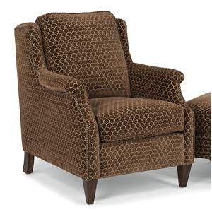 Transitional Chair with Slender English Arms and Nailhead Border
