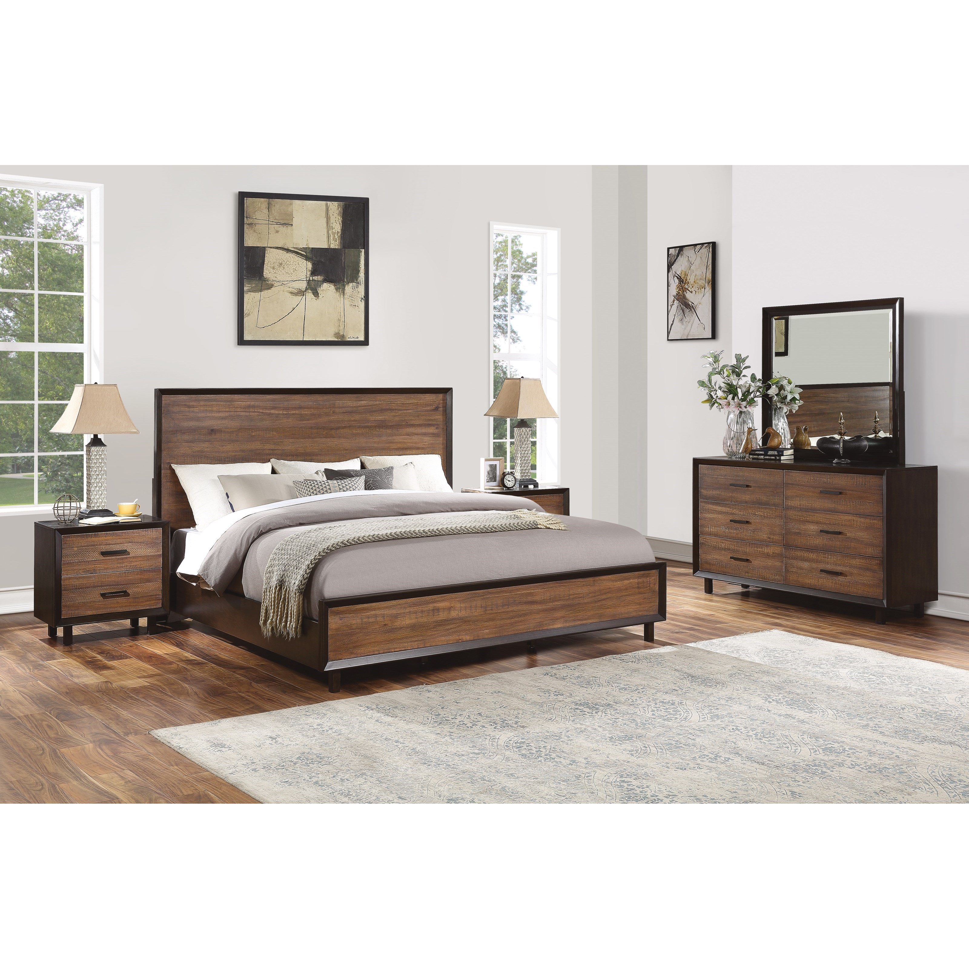 Alpine California King Bedroom Group by Flexsteel Wynwood Collection at Coconis Furniture & Mattress 1st