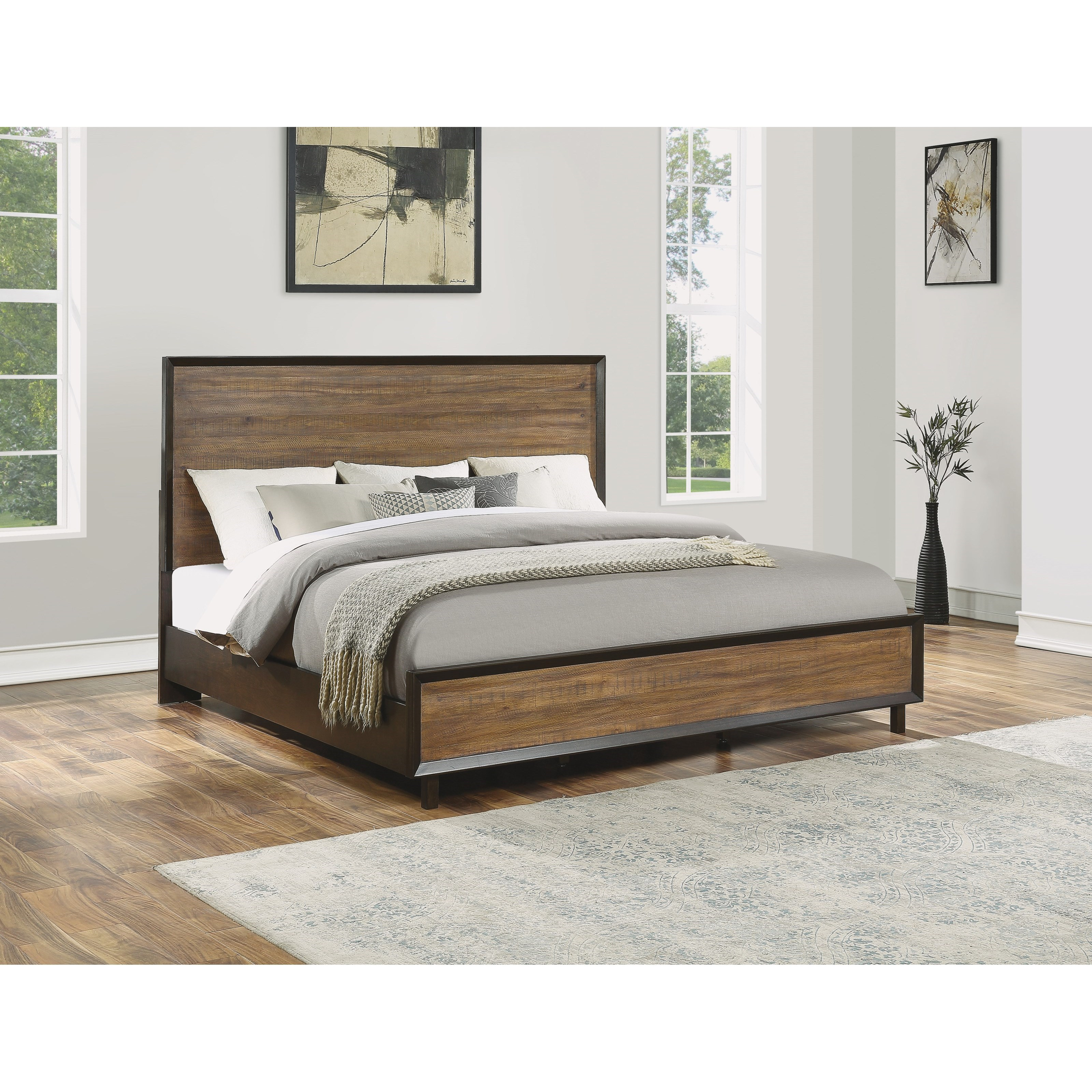 Alpine Queen Platform Bed by Flexsteel Wynwood Collection at Home Collections Furniture