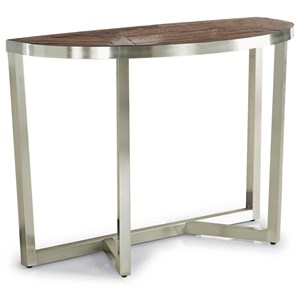 Contemporary Sofa Table with Parquet Design